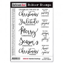 Darkroom Door Yuletide Greetings Cling Foam Mounted Rubber Stamps DDRS195