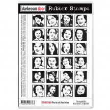 Darkroom Door Portrait Inchies Cling Foam Mounted Rubber Stamps DDRS200