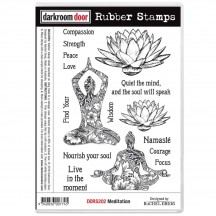 Darkroom Door Meditation Cling Foam Mounted Rubber Stamps DDRS202