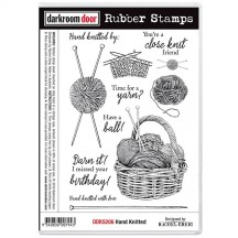 Darkroom Door Hand Knitted Cling Foam Mounted Rubber Stamps DDRS206