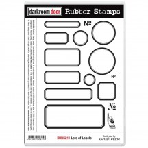 Darkroom Door Lots of Labels Cling Foam Mounted Rubber Stamps DDRS211