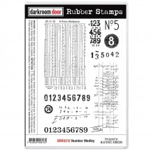 Darkroom Door Number Medley Cling Foam Mounted Rubber Stamps DDRS212