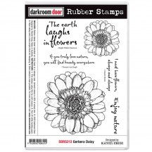 Darkroom Door Gerbera Daisy Cling Foam Mounted Rubber Stamps DDRS213