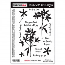 Darkroom Door Christmas Bush Cling Mounted Rubber Art Stamps DDRS215