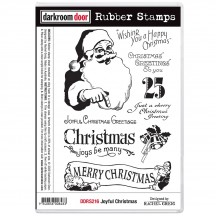 Darkroom Door Joyful Christmas Cling Mounted Rubber Art Stamps DDRS216