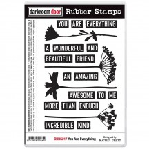 Darkroom Door You Are Everything Cling Foam Mounted Rubber Stamps DDRS217