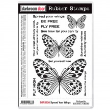 Darkroom Door Spread Your Wings Cling Foam Mounted Rubber Stamps DDRS220