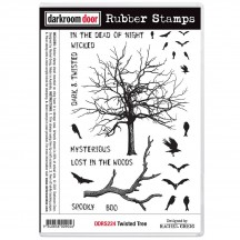 Darkroom Door Twisted Tree Cling Foam Mounted Rubber Stamps DDRS224