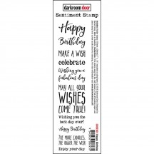 Darkroom Door Happy Birthday Rubber Sentiment Stamp DDSE001