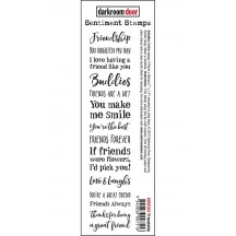 Darkroom Door Friendship Rubber Sentiment Stamp DDSE007