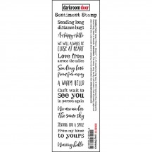 Darkroom Door Long Distance Cling Rubber Sentiment Stamp DDSE013