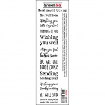 Darkroom Door Get Well Cling Rubber Sentiment Stamp DDSE014
