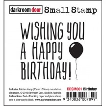 Darkroom Door Birthday Small Cling Rubber Stamp DDSM001