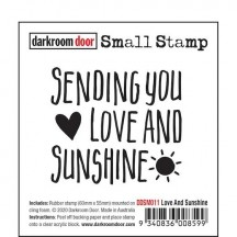 Darkroom Door Love and Sunshine Small Cling Rubber Stamp DDSM011