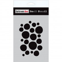 "Darkroom Door Arty Circles 4.5""x6"" Small Stencil DDSS016"
