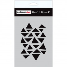 "Darkroom Door Arty Triangles 4.5""x6"" Small Stencil DDSS017"