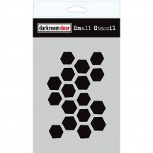 "Darkroom Door Arty Hexagons 4.5""x6"" Small Stencil DDSS018"