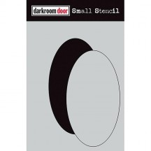 "Darkroom Door Oval Set 4.5""x6"" Small Stencil DDSS020"