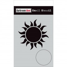 "Darkroom Door Sun 4.5""x6"" Small Stencil DDSS039"