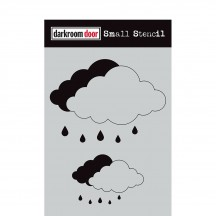 "Darkroom Door Cloud Set 4.5""x6"" Small Stencil DDSS041"