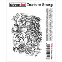 Darkroom Door Flower Garden Cling Mounted Rubber Texture Stamp DDTS019