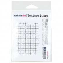Darkroom Door Grid Cling Mounted Rubber Texture Stamp DDTS037