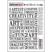 Darkroom Door Creativity Word Block Cling Foam Rubber Mounted Stamp DDWB010