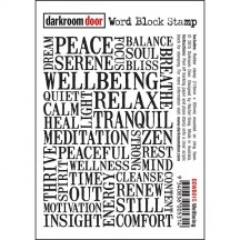 Darkroom Door Rubber Word Block Stamp - Wellbeing DDWB015