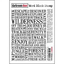 Darkroom Door Wilderness Word Block Cling Foam Rubber Mounted Stamp DDWB017