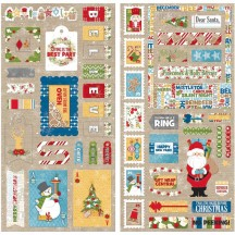 "Bo Bunny Dear Santa 12""x12"" Self Adhesive Chipboard Accents 18415080"