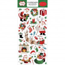 Carta Bella Dear Santa Christmas Self Adhesive Chipboard Accents Stickers DE125021