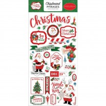 Carta Bella Dear Santa Christmas Self Adhesive Chipboard Phrases Stickers DE125022