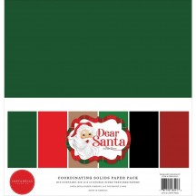 "Carta Bella Dear Santa Christmas 12""x12"" Solids Paper Kit DE125015"