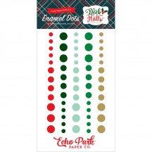 Echo Park Deck the Halls Christmas Enamel Dots - red, green, gold DH116028
