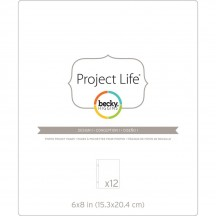 "Becky Higgins Project Life 6""x8"" Photo Pocket Pages Design 1 - Pack of 12 380289"