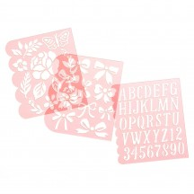Maggie Holmes Garden Party Flower Builder Stencils 34004907