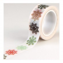 Echo Park Deck The Halls Multi Snowflakes Decorative Christmas Washi Tape DH116026