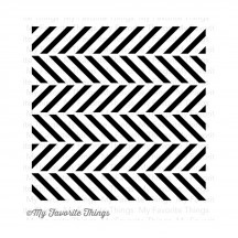 "My Favorite Things On the Diagonal 6""x6"" Cling Rubber Background Stamp"