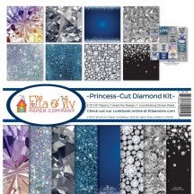 "Ella & Viv Princess-Cut Diamond 12""x12"" Paper Crafting Kit EAV-1089"