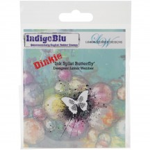 IndigoBlu Ink Splat Butterfly Dinkie Cling Mounted Rubber Stamp IND0143