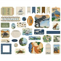 Carta Bella Dinosaurs Ephemera Die Cut Cardstock Pieces DI110024