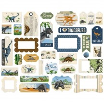 Carta Bella Dinosaurs Frames & Tags Die Cut Cardstock Pieces DI110025