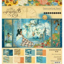 "Graphic 45 Dreamland Designer 8""x8"" Paper Pad 24 sheets 4501930"