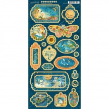 Graphic 45 Dreamland Die-Cut Decorative Chipboard Sheet 4501933