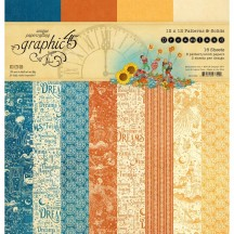 "Graphic 45 Dreamland Patterns & Solids 12""x12"" Paper Pad 4501932"