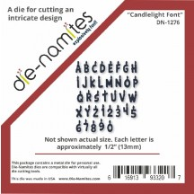 Die-Namites Candlelight Font Universal Cutting Die DN-1276