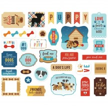 Echo Park I Love My Dog Ephemera Die Cut Cardstock Pieces LMD198024