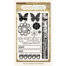 My Mind's Eye Miss Caroline Dolled Up 'Favourite' Clear Stamp Set MC0193