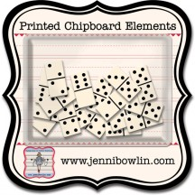 Jenni Bowlin Studio Dominoes Printed Chipboard Elements CP807