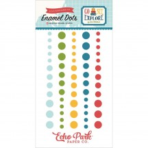 Echo Park Go See Explore Enamel Dots blue, green, yellow, navy, red GSE127028
